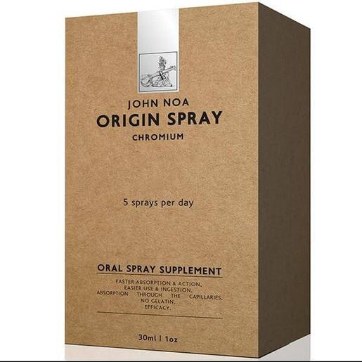 John Noa Origin Spray Chromium Συμπλήρωμα Διατροφής Χρήσιμο για τον Μεταβολισμό των Υδατανθράκων, σε Μορφή Spray 30ml