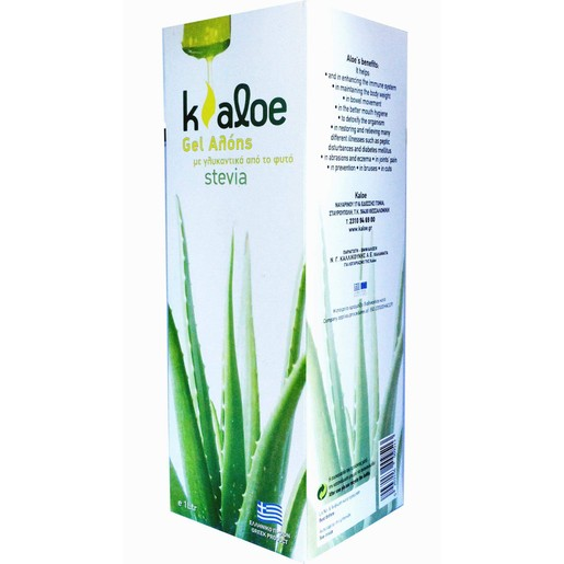 Kaloe Gel Αλόης & Γλυκαντικά Από το Φυτό Stevia 1Lt