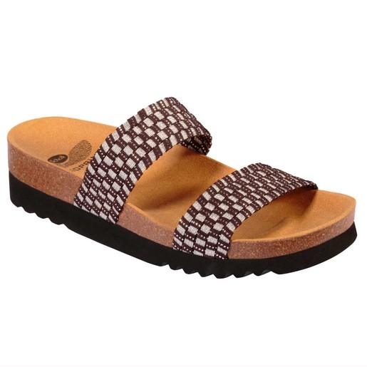 Scholl Shoes Kaory Dr Brown/Silver Γυναικεία Ανατομικά Παπούτσια Χαρίζουν Σωστή Στάση & Φυσικό Χωρίς Πόνο Βάδισμα 1 Ζευγάρι