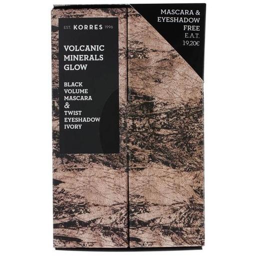 Πακέτο Προσφοράς Volcanic Minerals Glow Mascara 7.5ml & Δώρο Twist Eyeshadow Ivory 1.4gr - Korres