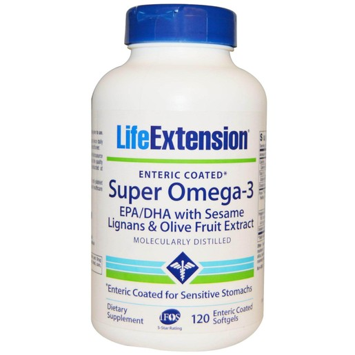 Life Extension Super Omega-3 EPA/DHA With Sesame Lignans & Olive Fruit Extract 120softgels