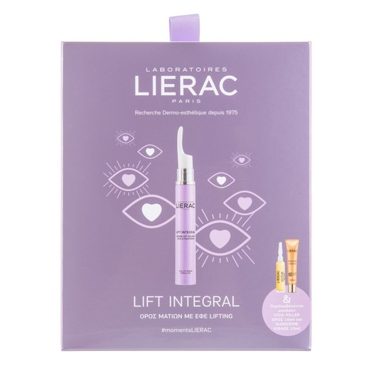 Lierac Promo Lift Integral Eye Lift Serum 15ml & Cica-Filler Serum 10ml,Sunissime Fluide Protecteur Spf50+, 10ml