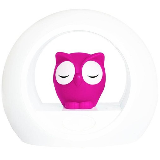Zazu Lou the Owl Nightlight With Sound Sensor Κουκουβάγια Φωτάκι Νυκτός σε Ροζ Χρώμα, με Αισθητήρα Απενεργοποίησης