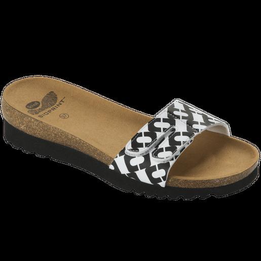 Dr Scholl Shoes Luwin Άσπρο-Μαύρο, Γυναικεία Ανατομικά Παπούτσια, Χαρίζουν Σωστή Στάση & Φυσικό, Χωρίς Πόνο Βάδισμα 1 Ζευγάρι