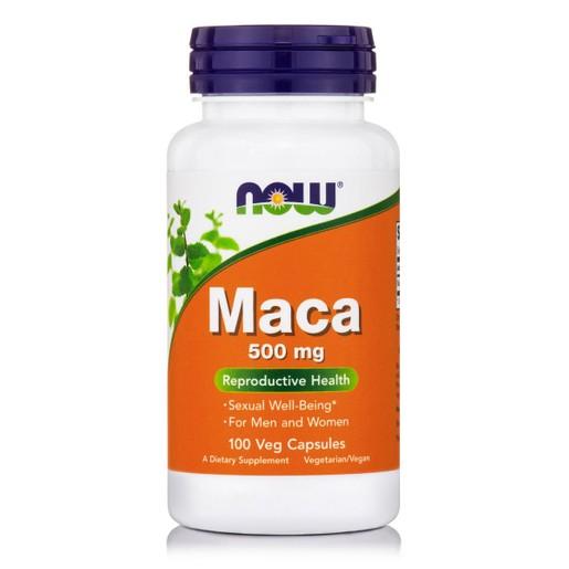 Now Foods Maca 500mg Συμπλήρωμα Διατροφής από το Φυτό Maca για Ενέργεια & Αύξηση της Λίμπιντο 100 VegCaps