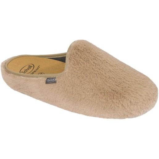 Scholl Shoes Maddy Camel Γυναικείες Παντόφλες Μπεζ 1 Ζευγάρι
