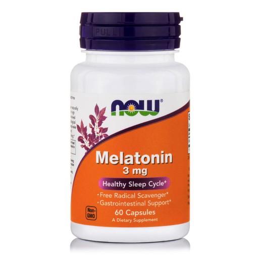 Now Foods Melatonin 3mg Συμπλήρωμα Διατροφής Μελατονίνης για την Αντιμετώπιση της Αϋπνίας & τις Διαταραχές του Ύπνου 60 Caps