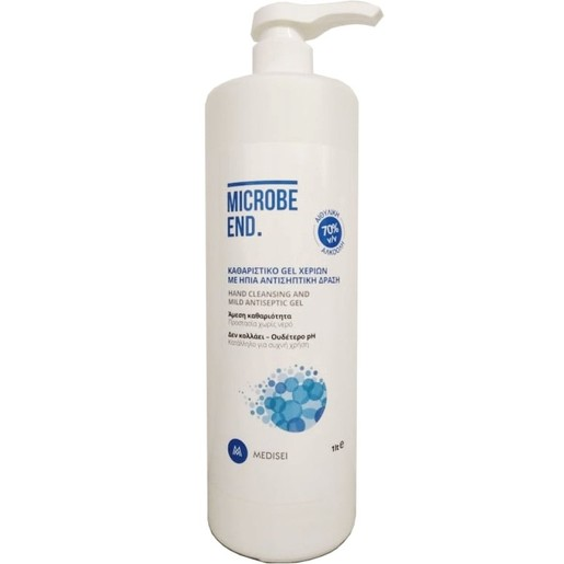 Medisei Microbe End Καθαριστικό Gel Χεριών με Ήπια Αντισηπτική Δράση 1Lt