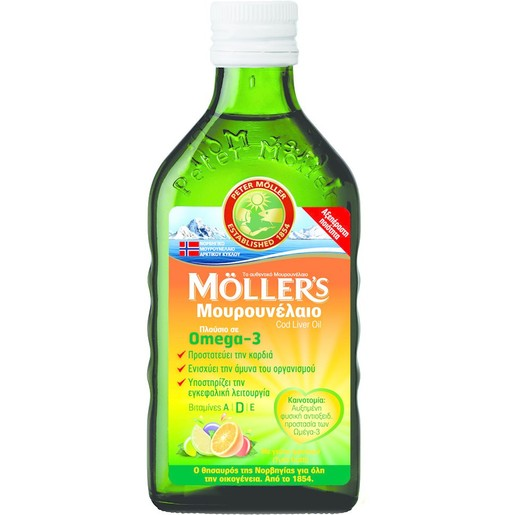 Moller's Μουρουνέλαιο Γεύση Φρούτων 250ml
