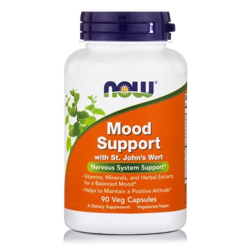 Now Foods Mood Support Συμπλήρωμα Διατροφής, Πολυφόρμουλα από Βότανα για την Υποστήριξη Υγιούς Νευρικού Συστήματος 90 VegCaps