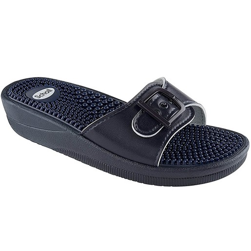Scholl Shoes New Massage Navy Blue Γυναικεία Ανατομικά Παπούτσια Χαρίζουν Σωστή Στάση & Φυσικό Χωρίς Πόνο Βάδισμα 1 Ζευγάρι
