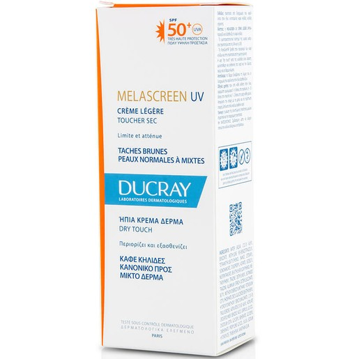 Ducray Melascreen UV Creme Legere Spf50+ Dry Touch Λεπτόρρευστη Αντηλιακή Κρέμα Πολύ Υψηλής Προστασίας 40ml Promo -20%