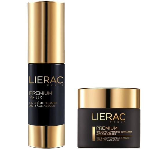 Lierac Πακέτο Προσφοράς Premium Yeux 15ml & Δώρο Lierac Premium Creme Voluptueuse Night & Day Absolute Anti-Aging 15ml