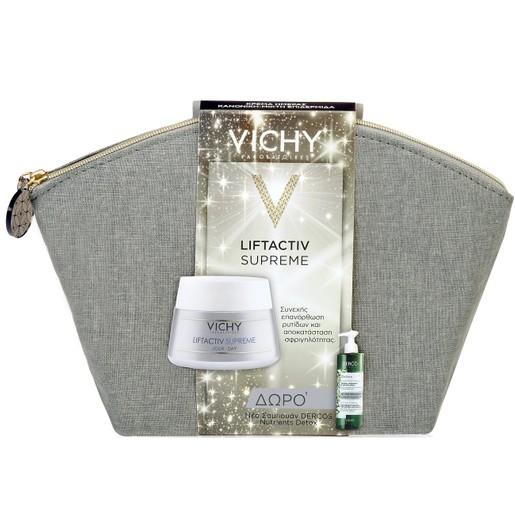 Vichy Πακέτο Προσφοράς Liftactiv Supreme Κανονικές/Μικτές 50ml & Δώρο Dercos Nutrients Detox Εξισορροπητικό Σαμπουάν 100ml