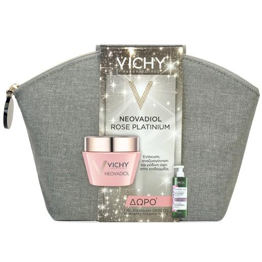Vichy Πακέτο Προσφοράς Neovadiol Rose Platinium, Ώριμες-Θαμπές Επιδερμίδες 50ml &Δώρο Dercos Nutrients Vitamin A.C.E Shamp 100ml