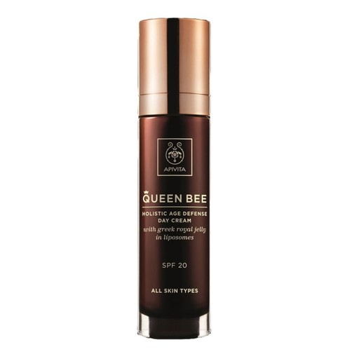 Apivita Queen Bee Holistic Age Defence Day Cream Spf20 With Greek Royal Jelly in Liposomes 50ml