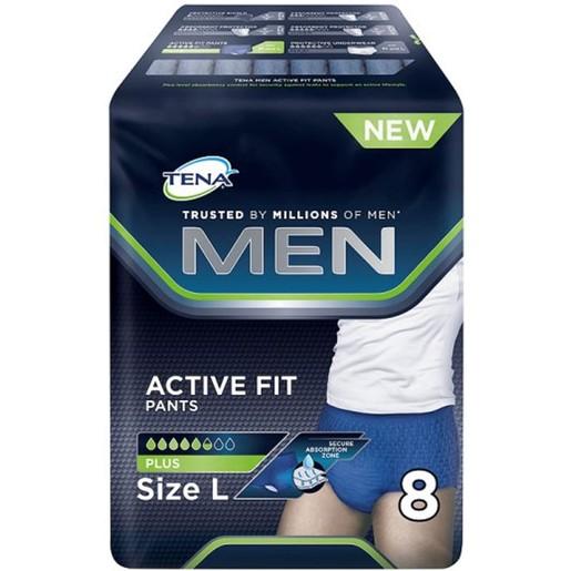 Tena Men Active Fit Pants Plus Large Ανδρικά Προστατευτικά Εσώρουχα 8 τεμάχια