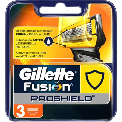 Gillette Fusion Proshield Ανταλλακτικές Κεφαλές 5 Λεπίδων 3 τεμάχια