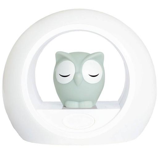 Zazu Lou the Owl Nightlight With Sound Sensor Κουκουβάγια Φωτάκι Νυκτός σε Γκρι Χρώμα, με Αισθητήρα Απενεργοποίησης