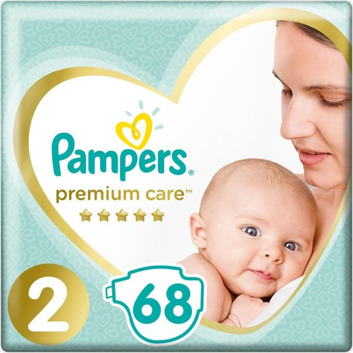 Pampers Premium Care Jumbo Pack No2 (4-8kg) 68 πάνες