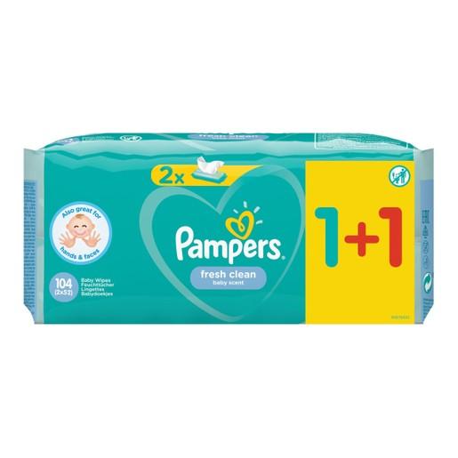 Pampers Πακέτο Προσφοράς Fresh Clean Wipes Μωρομάντηλα με Άρωμα Φρεσκάδας 2x52 Wipes