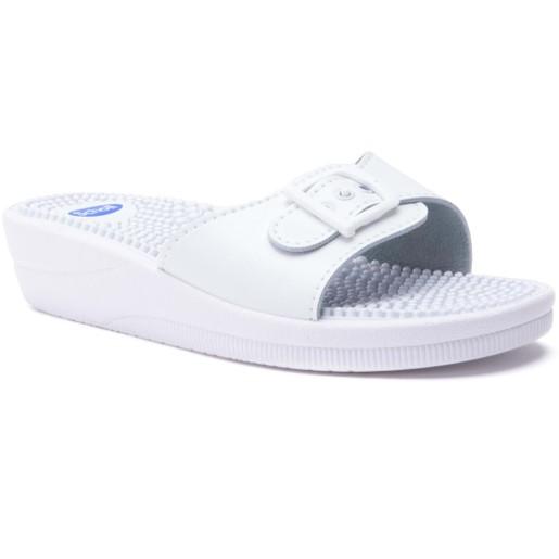 Scholl Shoes New Massage White Γυναικεία Ανατομικά Παπούτσια Χαρίζουν Σωστή Στάση & Φυσικό Χωρίς Πόνο Βάδισμα 1 Ζευγάρι