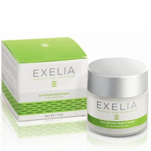 Exelia Anti-Wrinkle Night Cream Αντιρυτιδική Προστασία Για Κανονική Και Ξηρή Επιδερμίδα  50ml