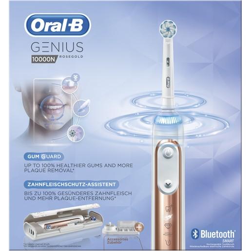 Oral-B Genius 10000 N Rose Gold Προηγμένη Ηλεκτρική Οδοντόβουρτσα με 6 Διαφορετικά Προγράμματα Καθαρισμού, Σύνδεση Bluetooth