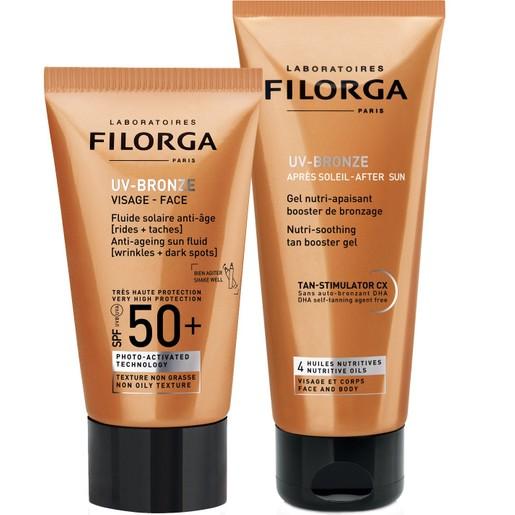Filorga Πακέτο Προσφοράς UV-Bronze Face Spf50+, Αντηλιακή, Αντιγηραντική Κρέμα Προσώπου 40ml & UV Bronze After Sun 50ml