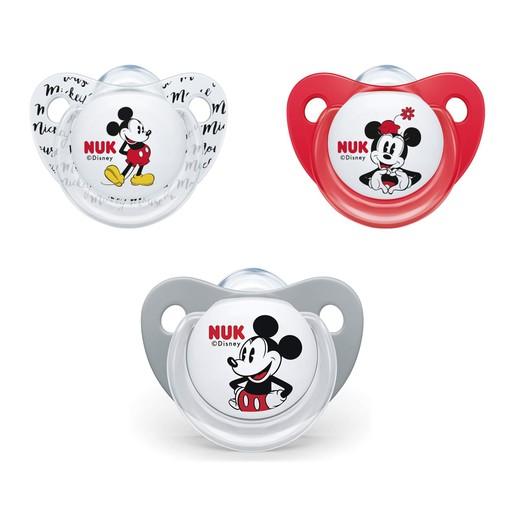 Nuk Trendline Disney Mickey Mouse Πιπίλα Σιλικόνης με Κρίκο 1 Τεμάχιο