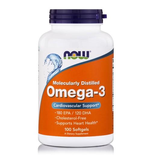 Now Foods Omega-3 1000mg Συμπλήρωμα Διατροφής Ωμέγα-3 Λιπαρών Οξέων 100 Softgels