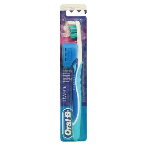 Oral B 3D White Οδοντόβουρτσα Μέτρια, 1 τεμάχιο