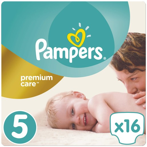 Pampers Premium Care No5 (11-18kg) 16 πάνες