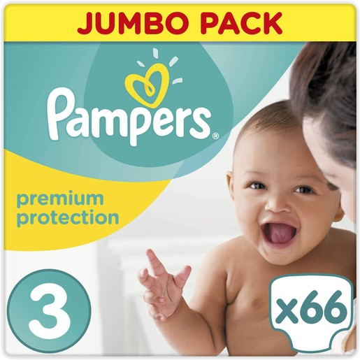 Pampers  New Baby Jumbo Pack Midi No3 (5-9kg), 66 πάνες