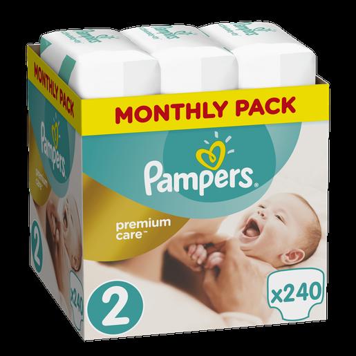 PampersPremium CareMonthly Pack No2 (3-6kg)240 πάνες, μόνο 0,14€ / πάνα