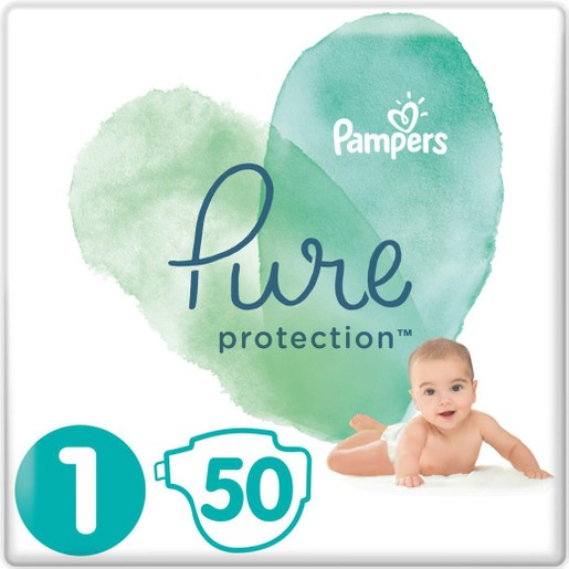 Pampers Pure Protection No1 (2-5kg) 50 πάνες