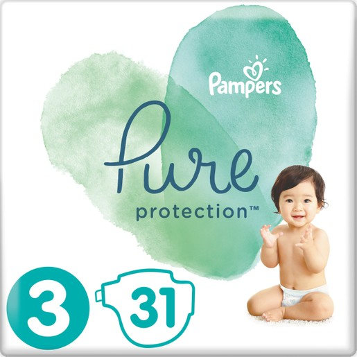 Pampers Pure Protection No3 (6-10kg) 31 πάνες