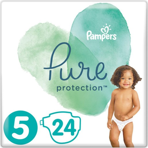 Pampers Pure Protection No5 (11+kg) 24 πάνες