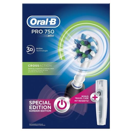 Pro 750 Cross Action 3D Black Special Edition Ηλεκτρική Οδοντόβουρτσα - Oral-B