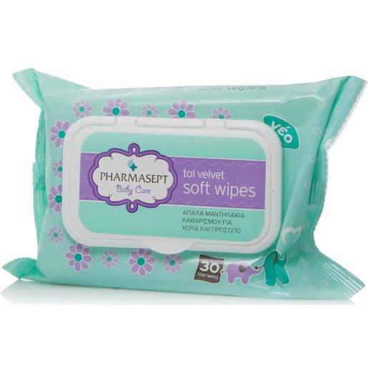 Δώρο Pharmasept Tol Velvet Baby Care Soft Wipes Δερματολογικά Ελεγμένα Απαλά Παιδικά Μαντηλάκια 30τμχ