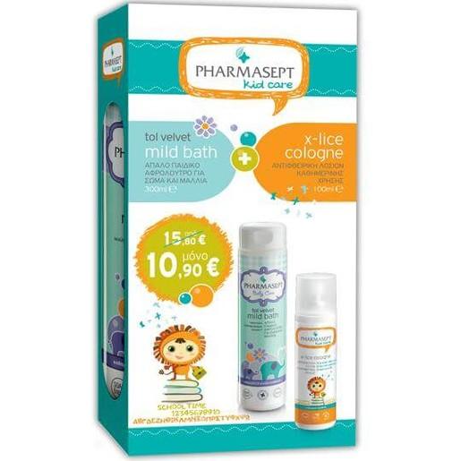 Pharmasept KidCare Πακέτο Προσφοράς Tol Velvet Baby Mild Bath 300ml & Tol Velvet X-lice Cologne 100ml σε Ειδική Τιμή