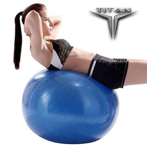 John\'s Titan Μπάλα Yoga-Pilates Φ σε Χρώμα Μπλε 75cm 1300gr