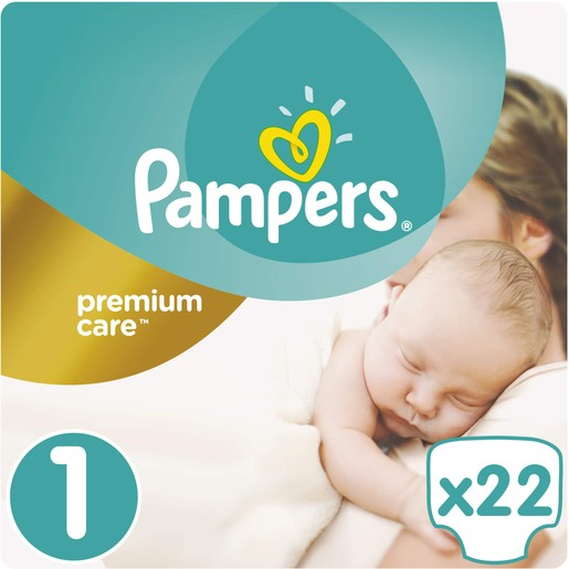 Pampers Premium Care Νο1 (2-5kg) 22 πάνες