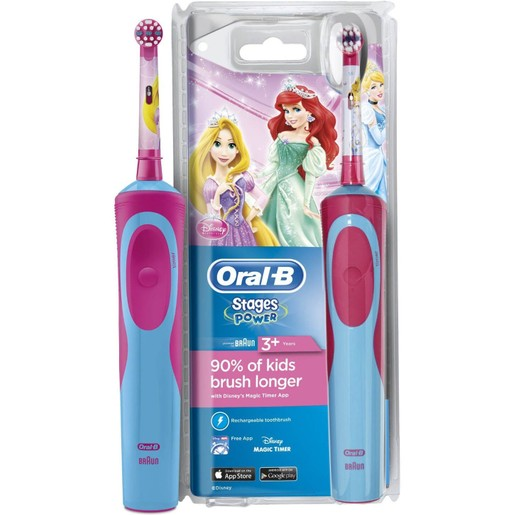 Oral-B Vitality Stages Power Princess 3+ years Παιδική Ηλεκτρική Οδοντόβουρτσα