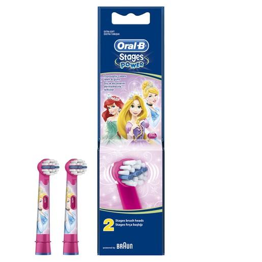 Oral-b Stages Power Princess Ανταλλακτικές Κεφαλές 2 τεμάχια