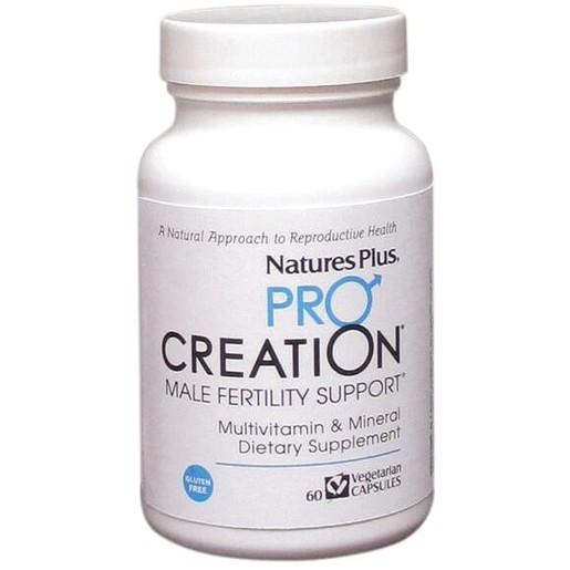 Nature\'s Plus Pro Creation Male Fertility Support Συμπλήρωμα Διατροφής που Βοηθά την Αύξηση Γονιμότητας των Ανδρών V. 60caps