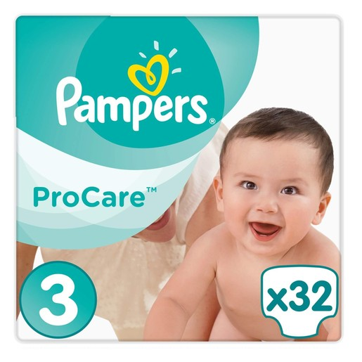 Pampers ProCare Premium Protection No3 (5-9kg) 32 πάνες, μόνο 0,35 € / πάνα