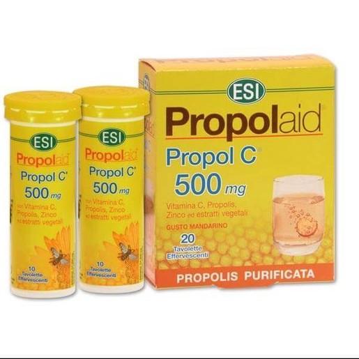 Esi Propolaid Propol C 500mg Για Την Ισχυρή Αντιμετώπιση Των Συμπτωμάτων Κρυολογήματος 20tabs