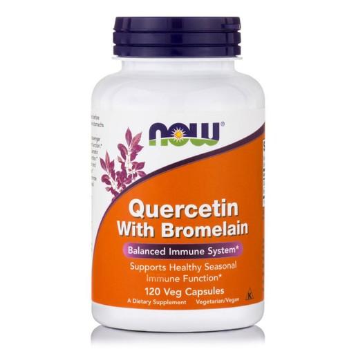 Now Foods Quercetin With Bromelain Συμπλήρωμα Διατροφής, Ισχυρό Αντιοξειδωτικό, Υποστηρίζει το Ανοσοποιητικό Σύστημα  120VegCaps
