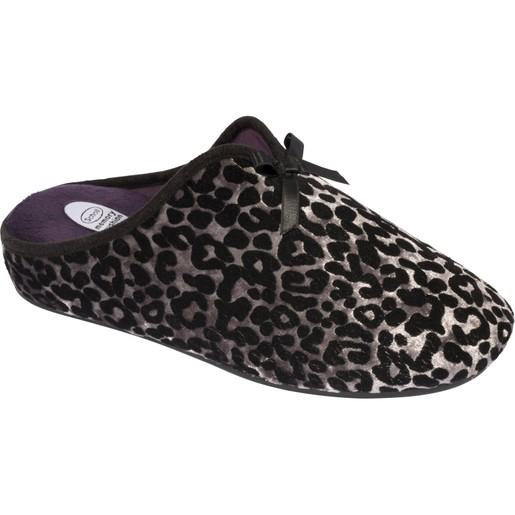 Scholl Shoes Rachele Silver Γυναικείες Παντόφλες σε Leopard Ασημί 1 Ζευγάρι